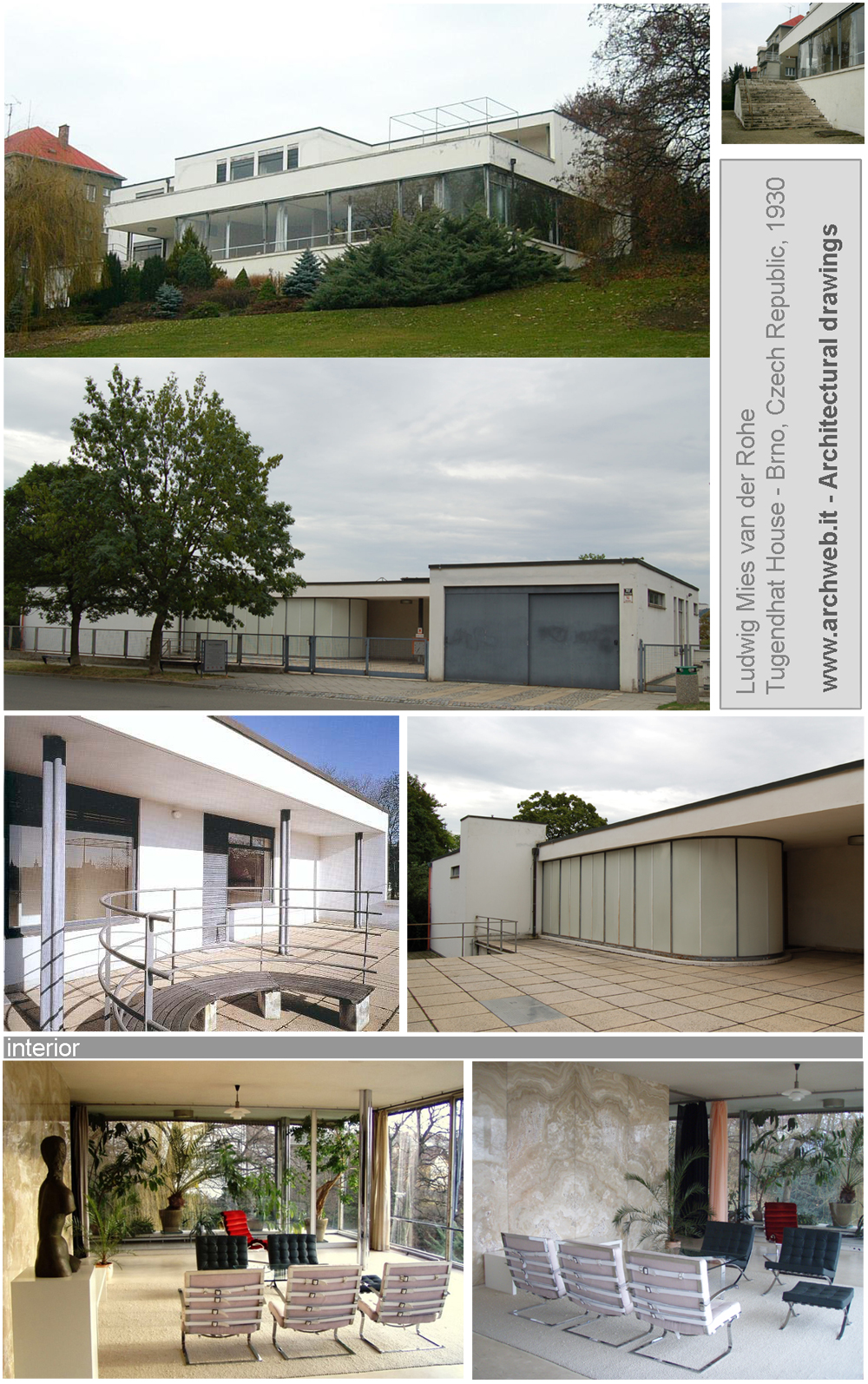 Tugendhat house 2d tugendhat dwg for Archweb arredi