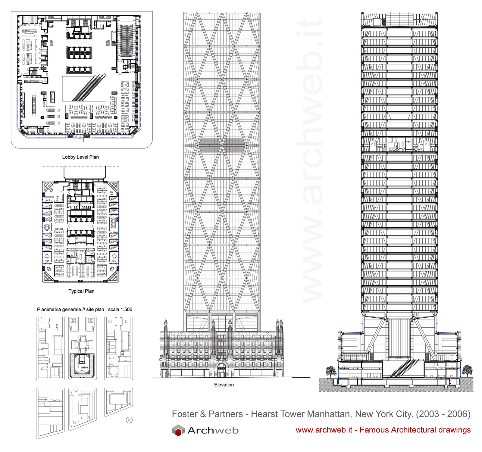 Hearst Tower New York Dwg Drawings