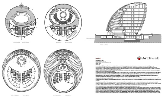Norman foster london city hall dwg for Archweb arredi