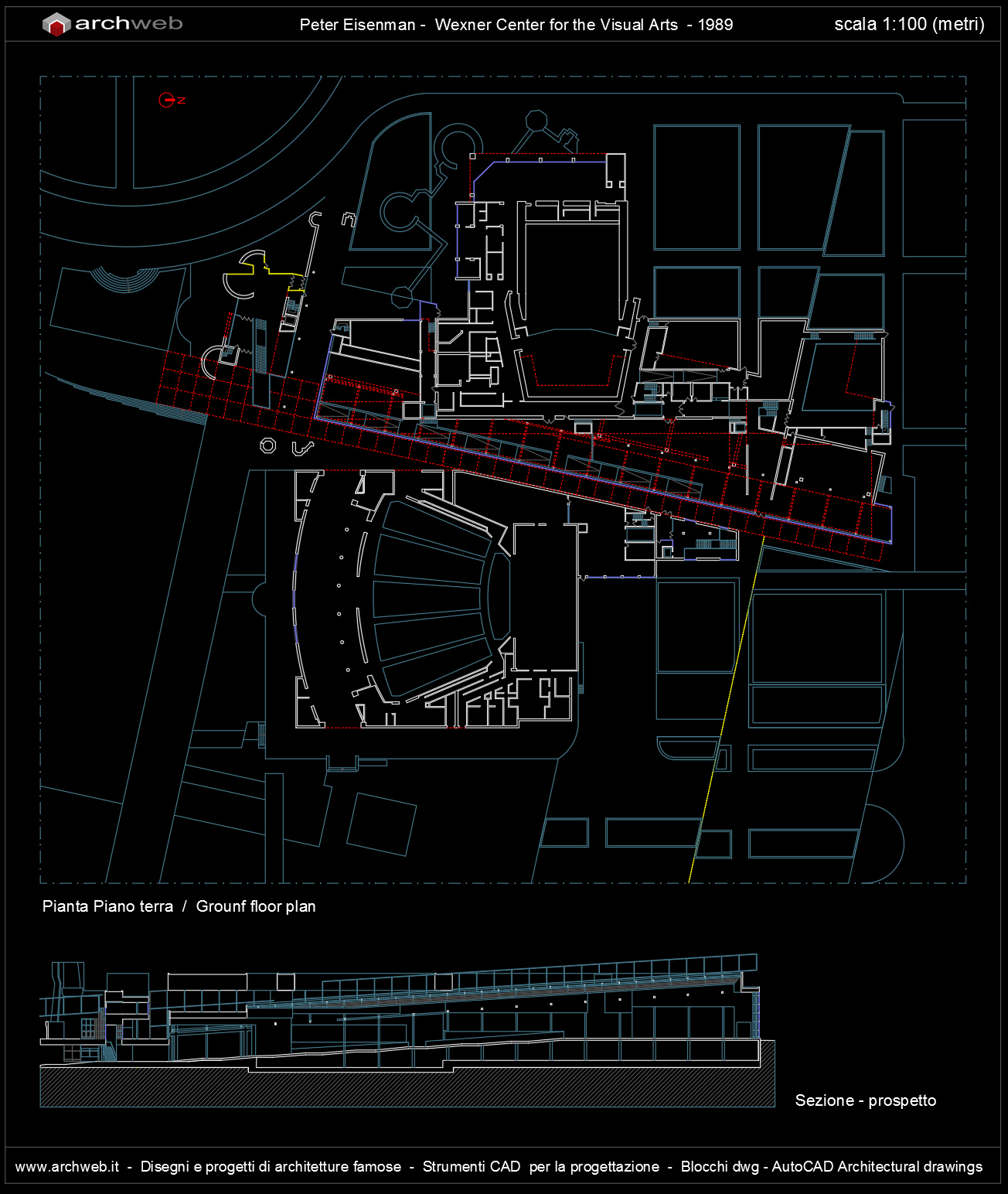 Wexner center for the visual arts autocad dwg for Autocad arredi