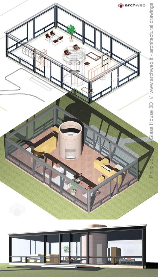 Autocad 3d House Design Software: Glass House 3D
