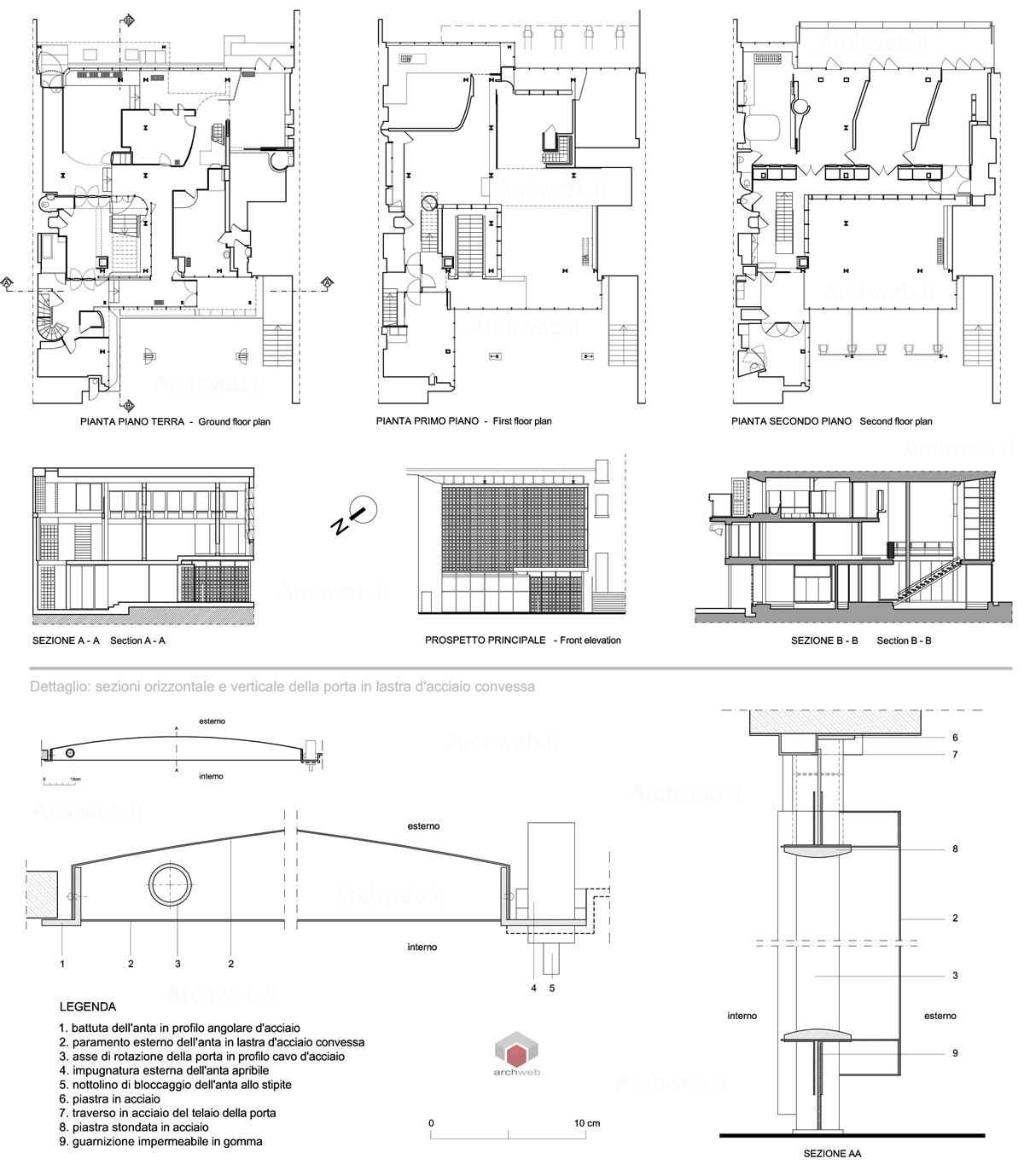 maison de verre dwg drawings. Black Bedroom Furniture Sets. Home Design Ideas