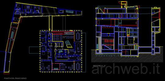 Dutch embassy autocad dwg for Archweb arredi