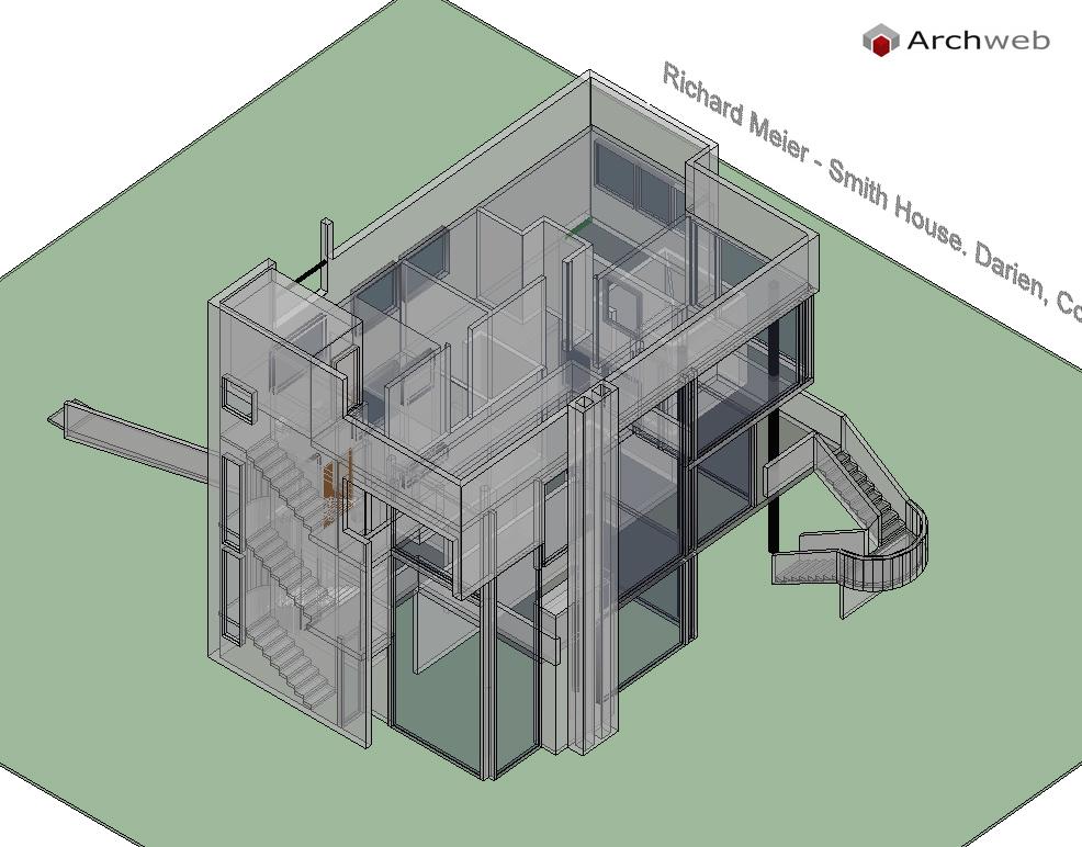 Smith house autocad 3d for Autocad arredi