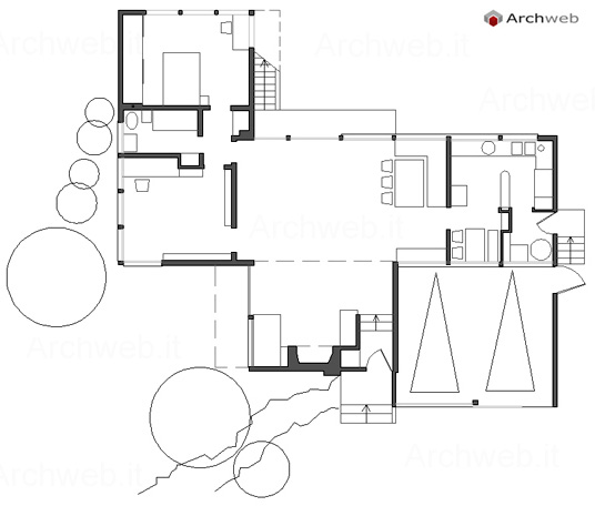 Richard neutra beard house dwg for Archweb arredi