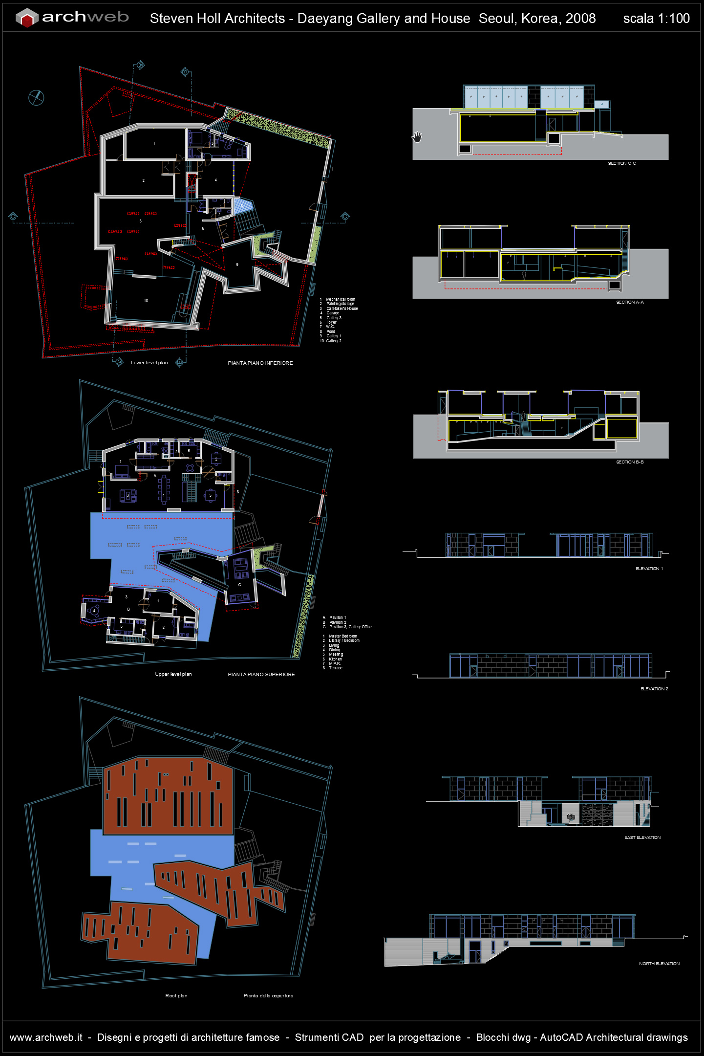 Daeyang gallery and house autocad dwg for Autocad arredi