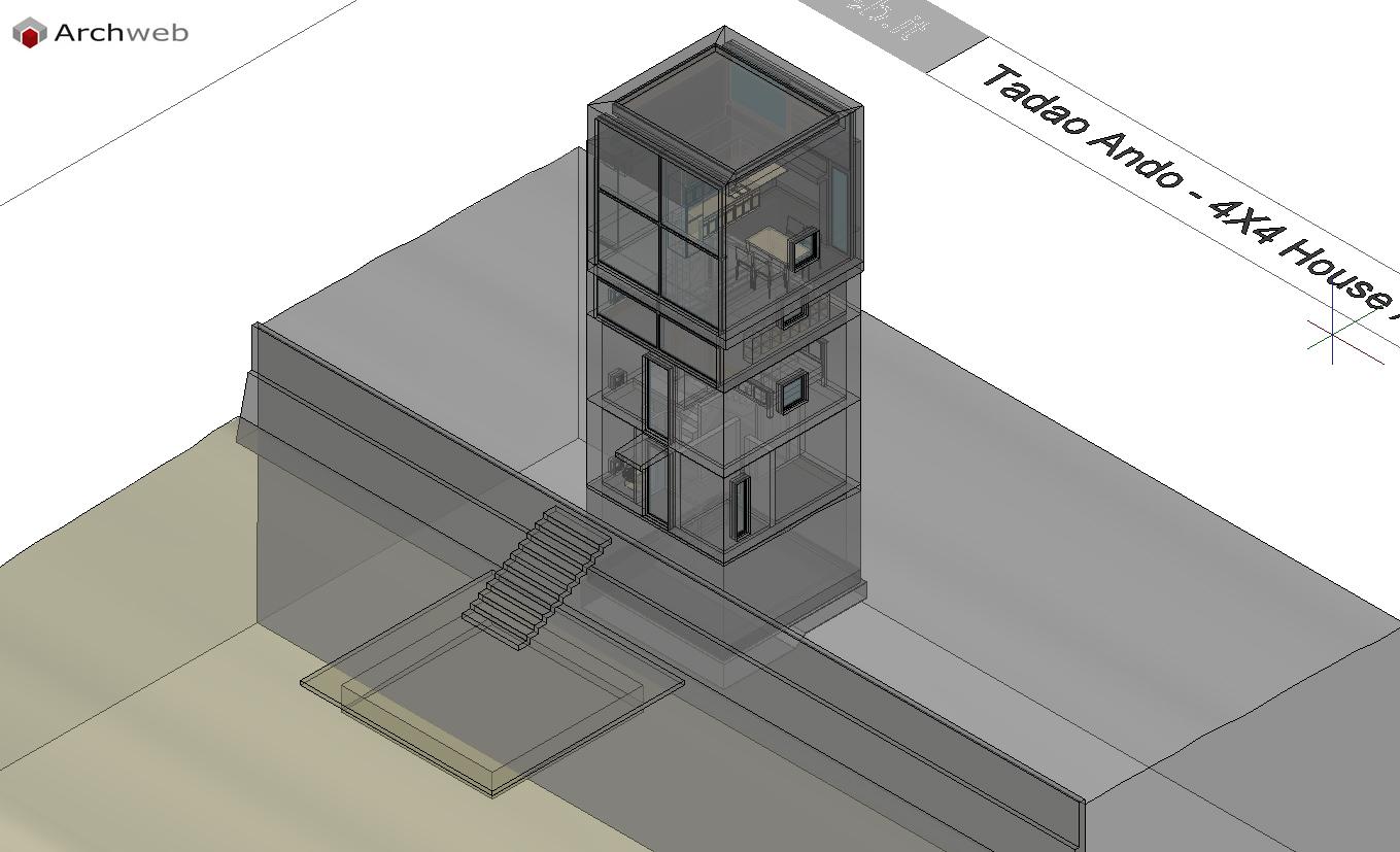 4 x 4 house autocad plan for Autocad arredi