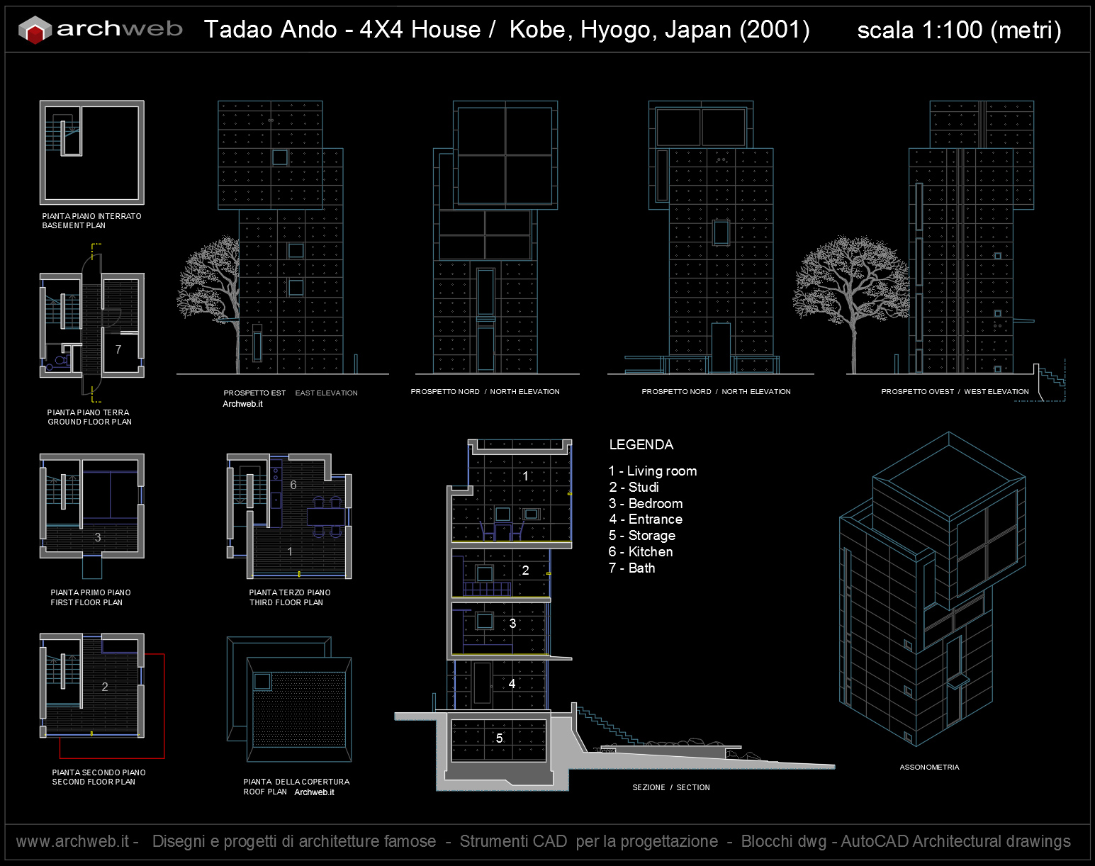 4 x 4 House Autocad plan
