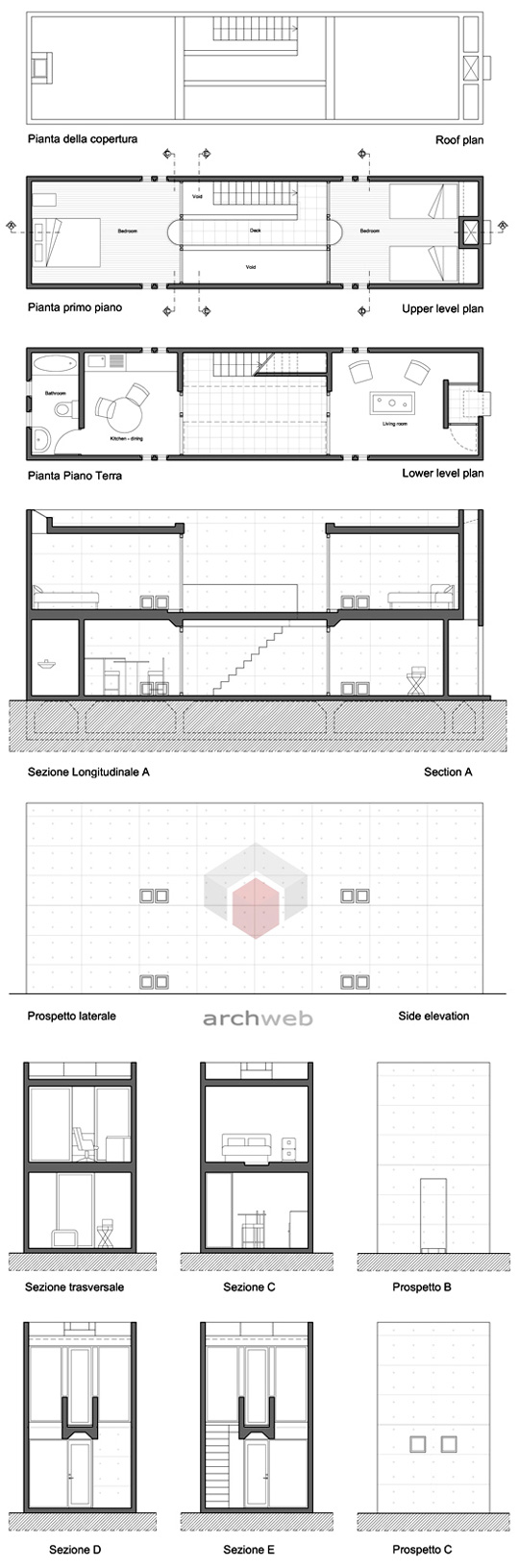 Azuma house 2d for Arredi interni dwg