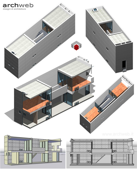 Azuma house 3d model for Archweb arredi