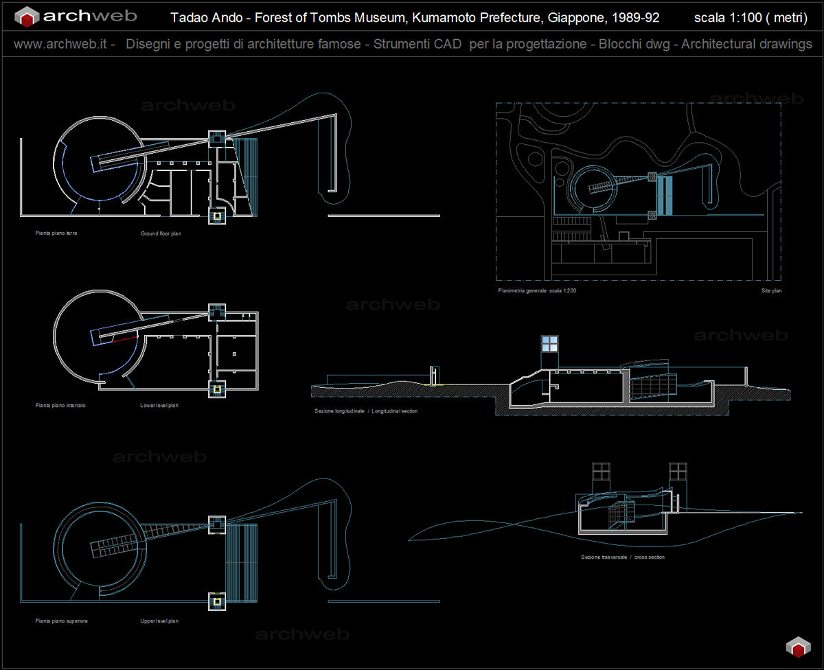Forest of tombs museum for Autocad arredi