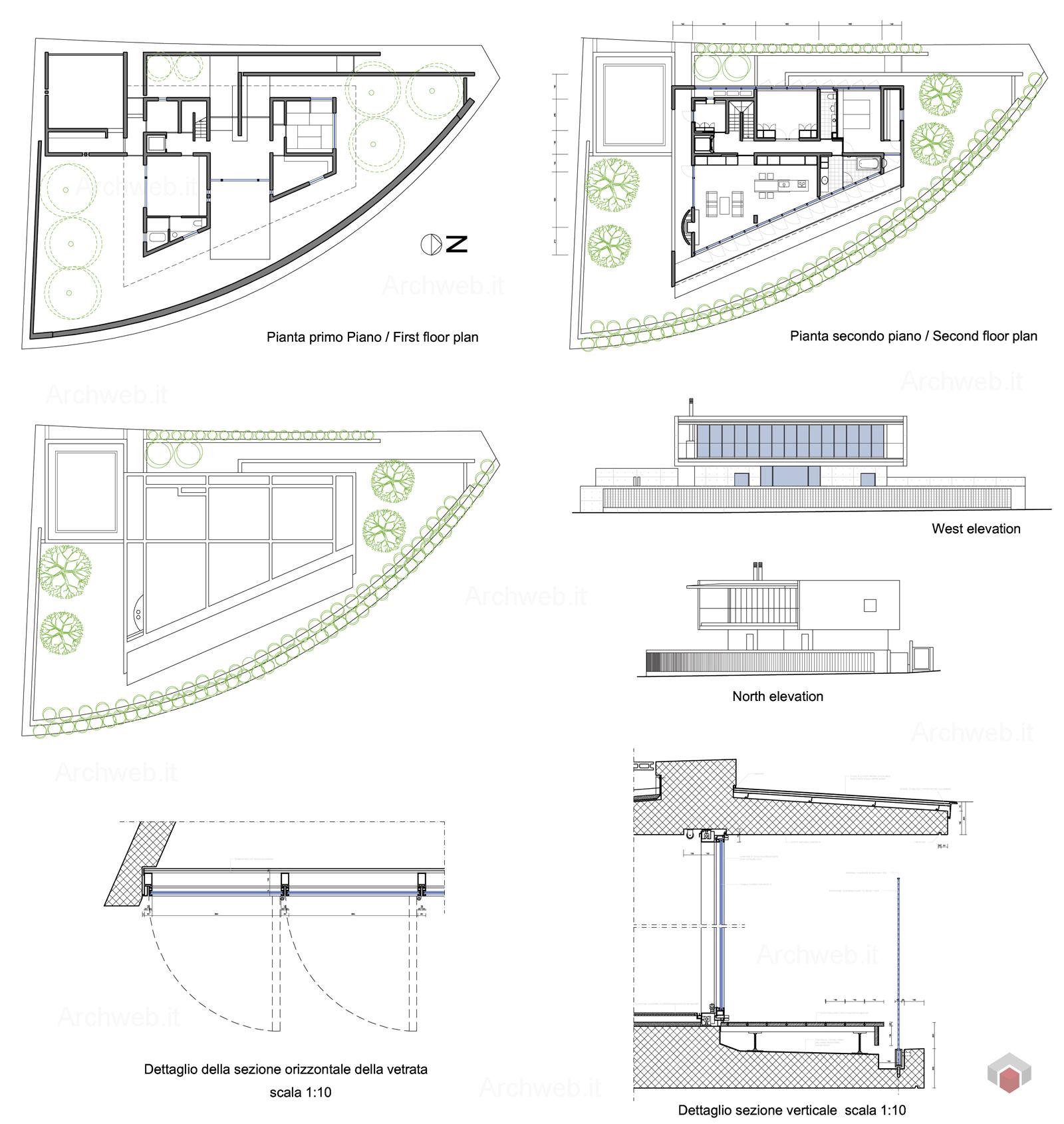 House In Shiga Tadao Ando Drawings Plan