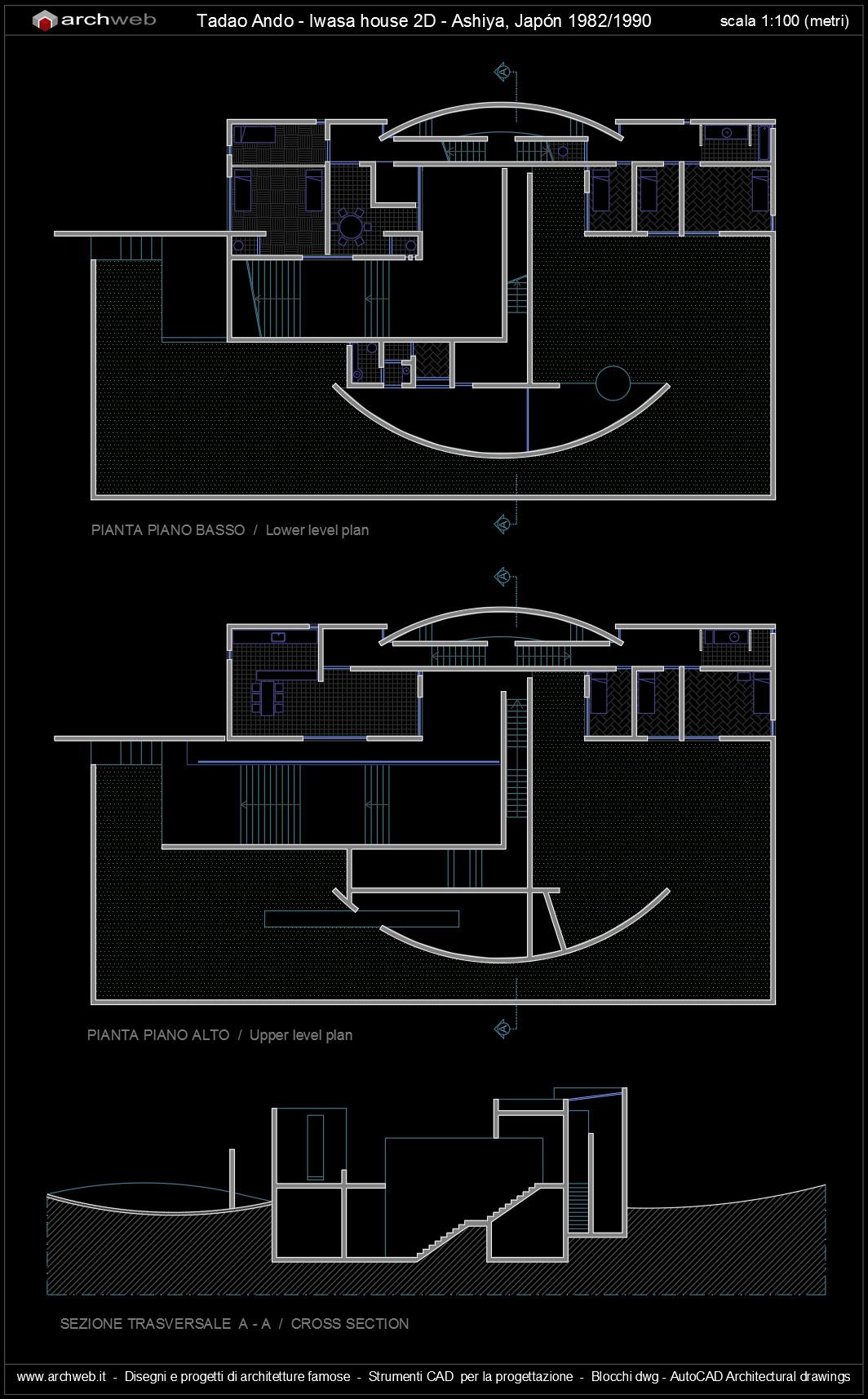 Tadao ando iwasa house autocad for Autocad arredi