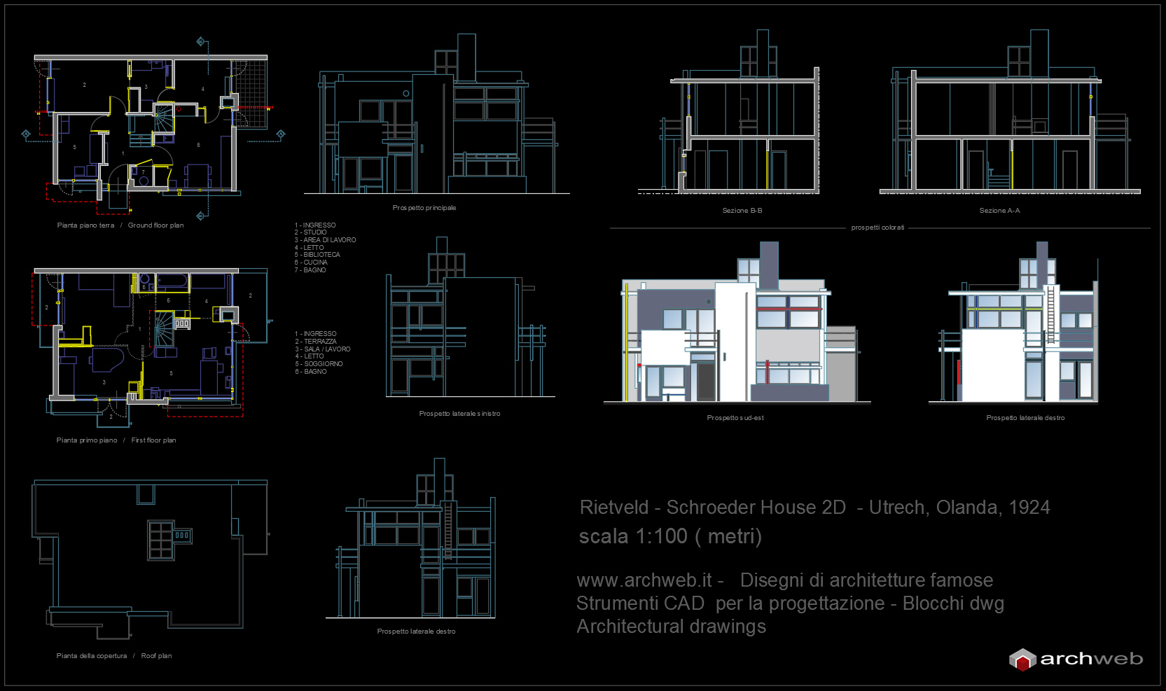 Schr der house progetto autocad dwg for Arredi casa dwg
