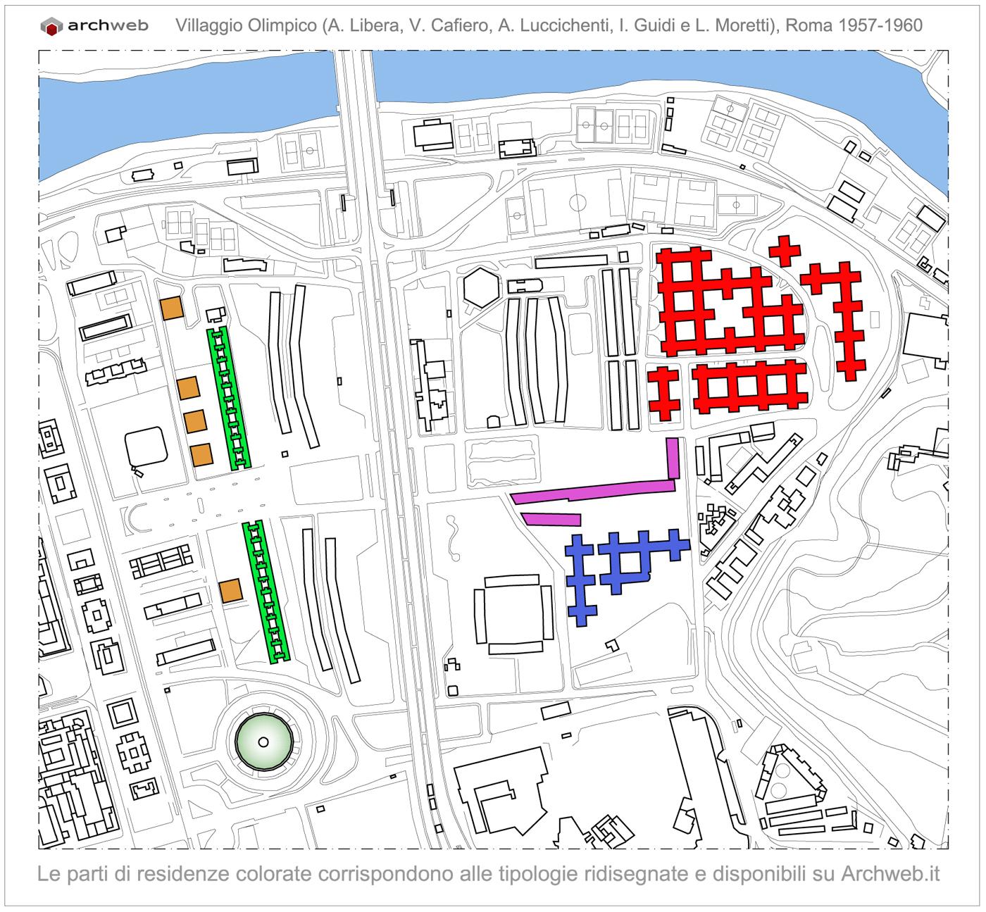Villaggio olimpico roma planimetria generale for Villaggio olimpico