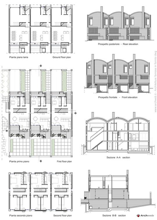 Case a schiera rossi a genzano for Progetti di costruzione famosi