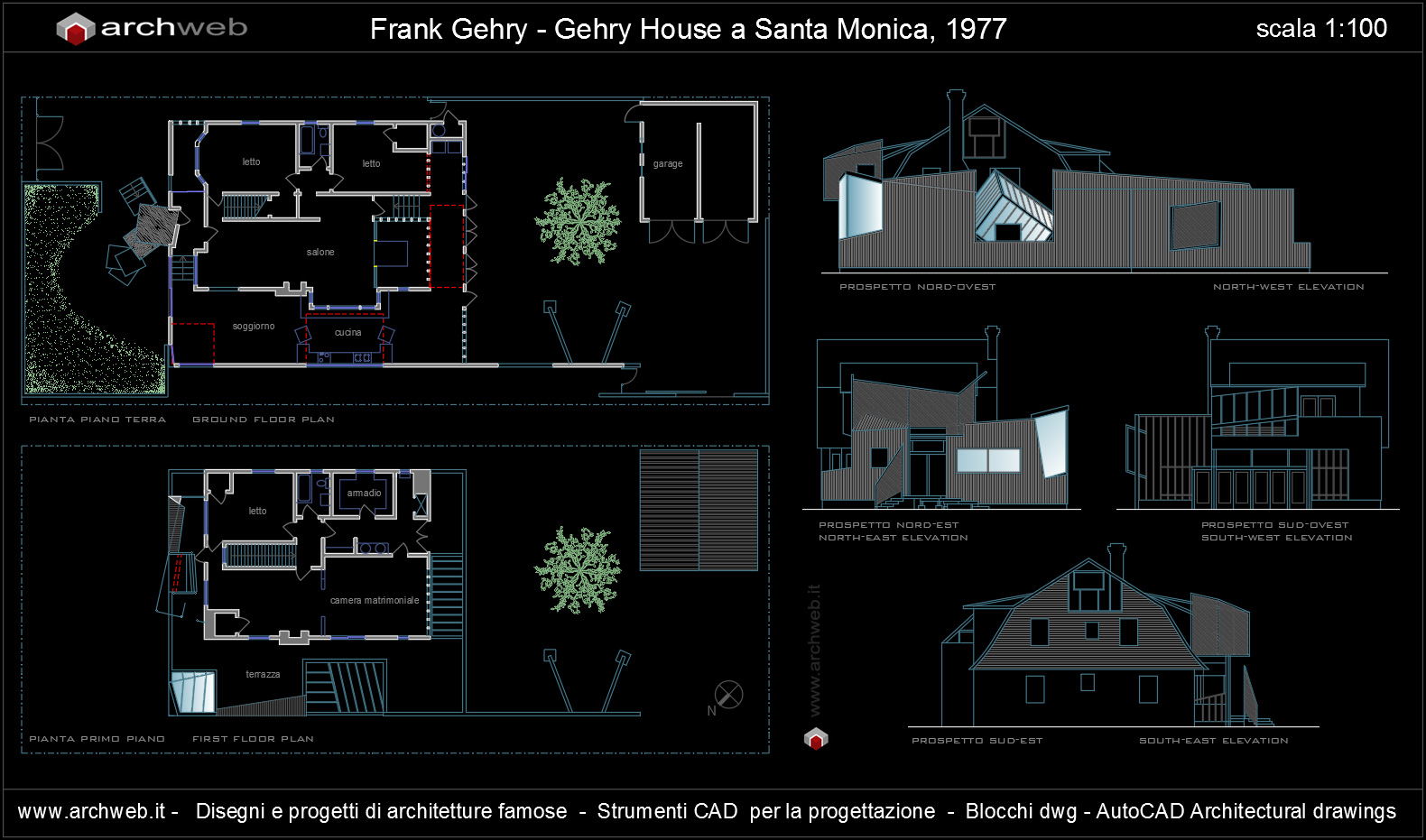 Gehry house autocad dwg for Autocad arredi