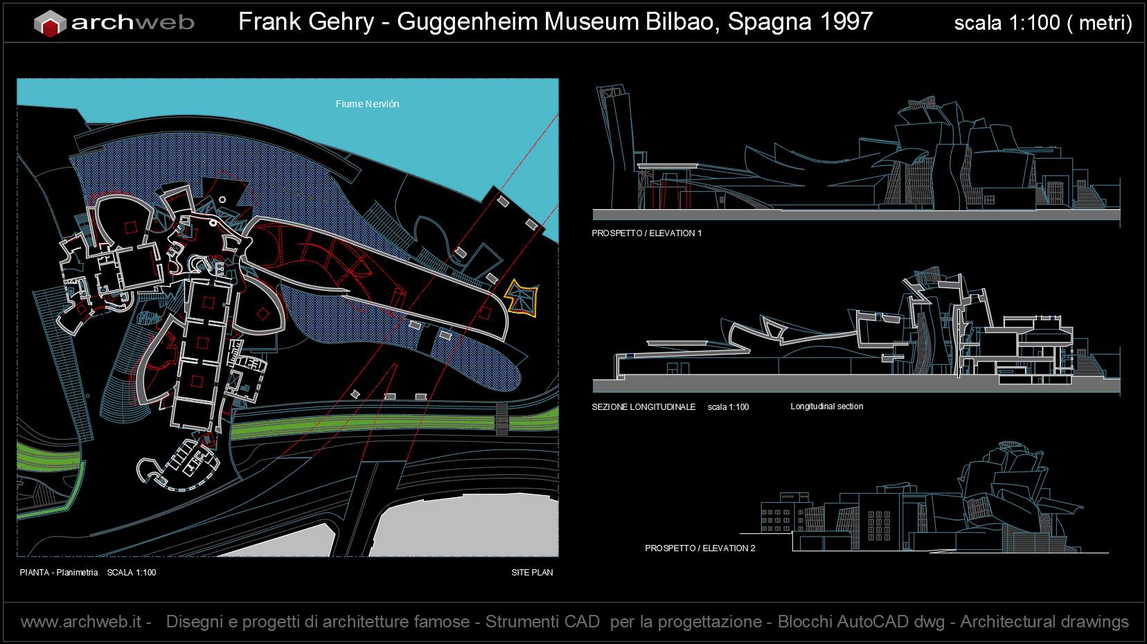 Guggenheim museum bilbao autocad dwg for Autocad arredi