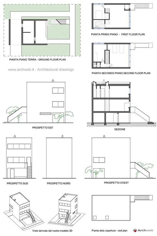 maison minimum progetto di le corbusier. Black Bedroom Furniture Sets. Home Design Ideas