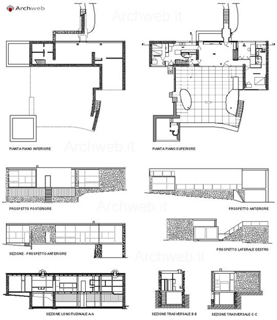 Maison de mandrot dwg for Archweb arredi