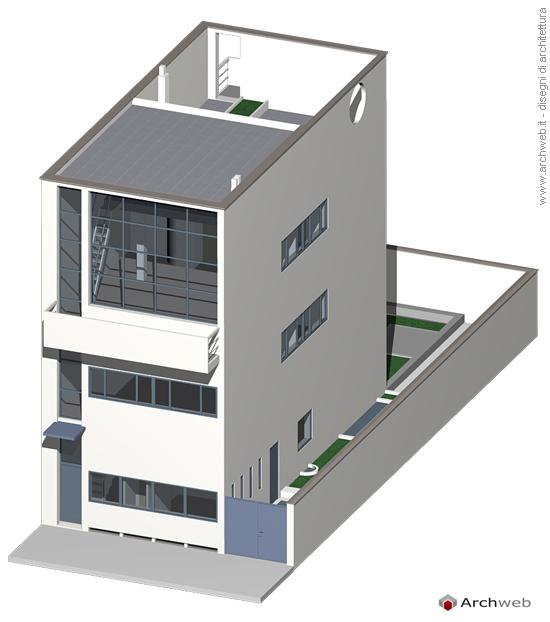 Maison guiette 3d model guiette house 3d for Maison 2d