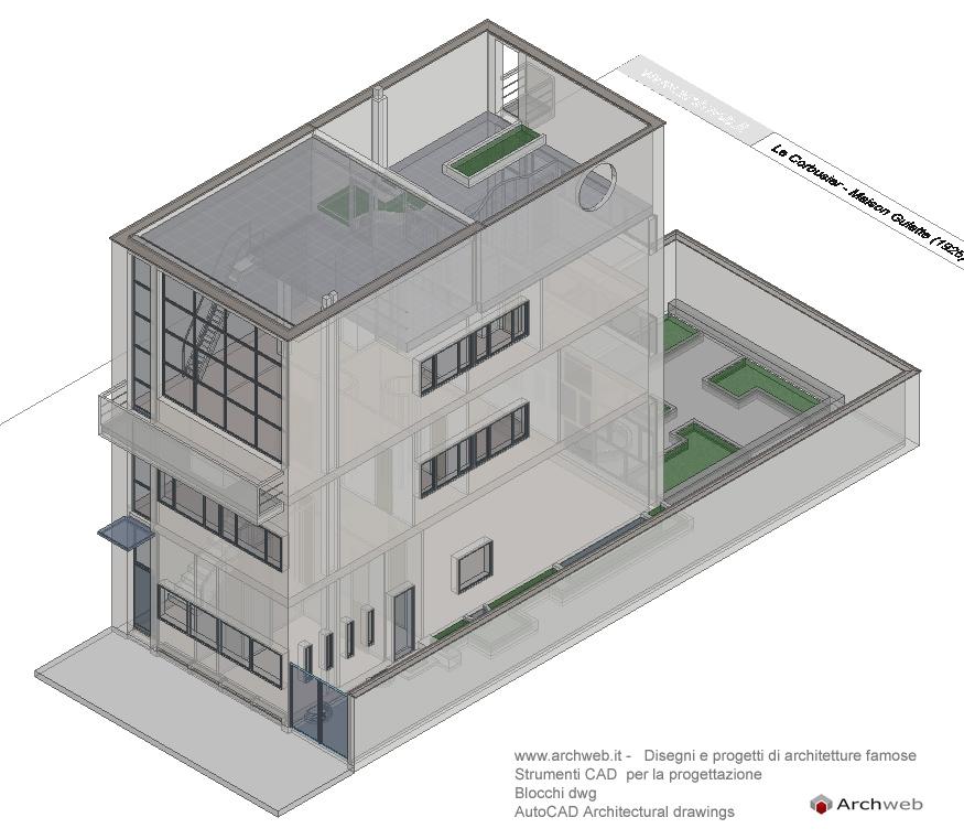 Maison Guiette Autocad 3d