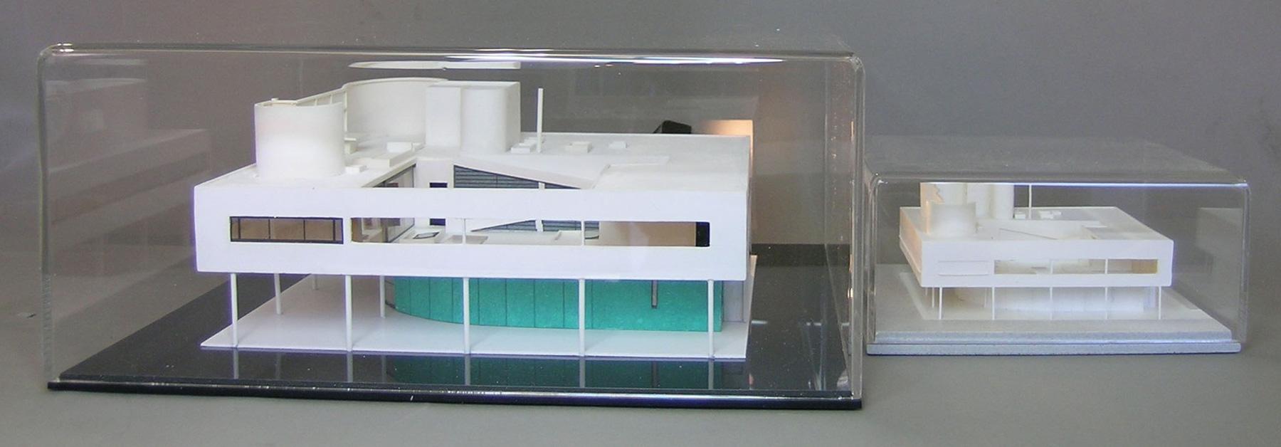 Il plastico di villa savoye for Ville architetti famosi