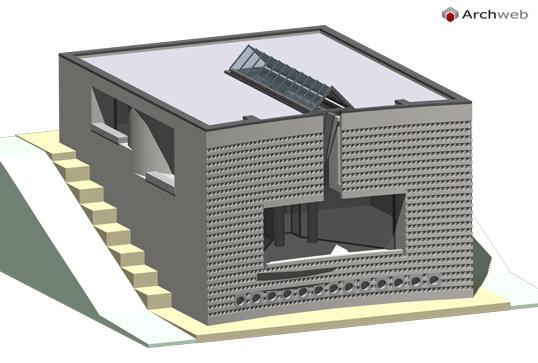 Casa a morbio superiore dwg 3d - Casa unifamiliare dwg ...