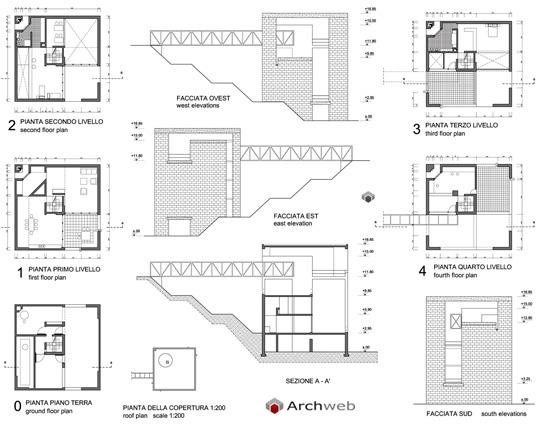 Mario botta casa bianchi a riva san vitale 2d - Casa unifamiliare dwg ...