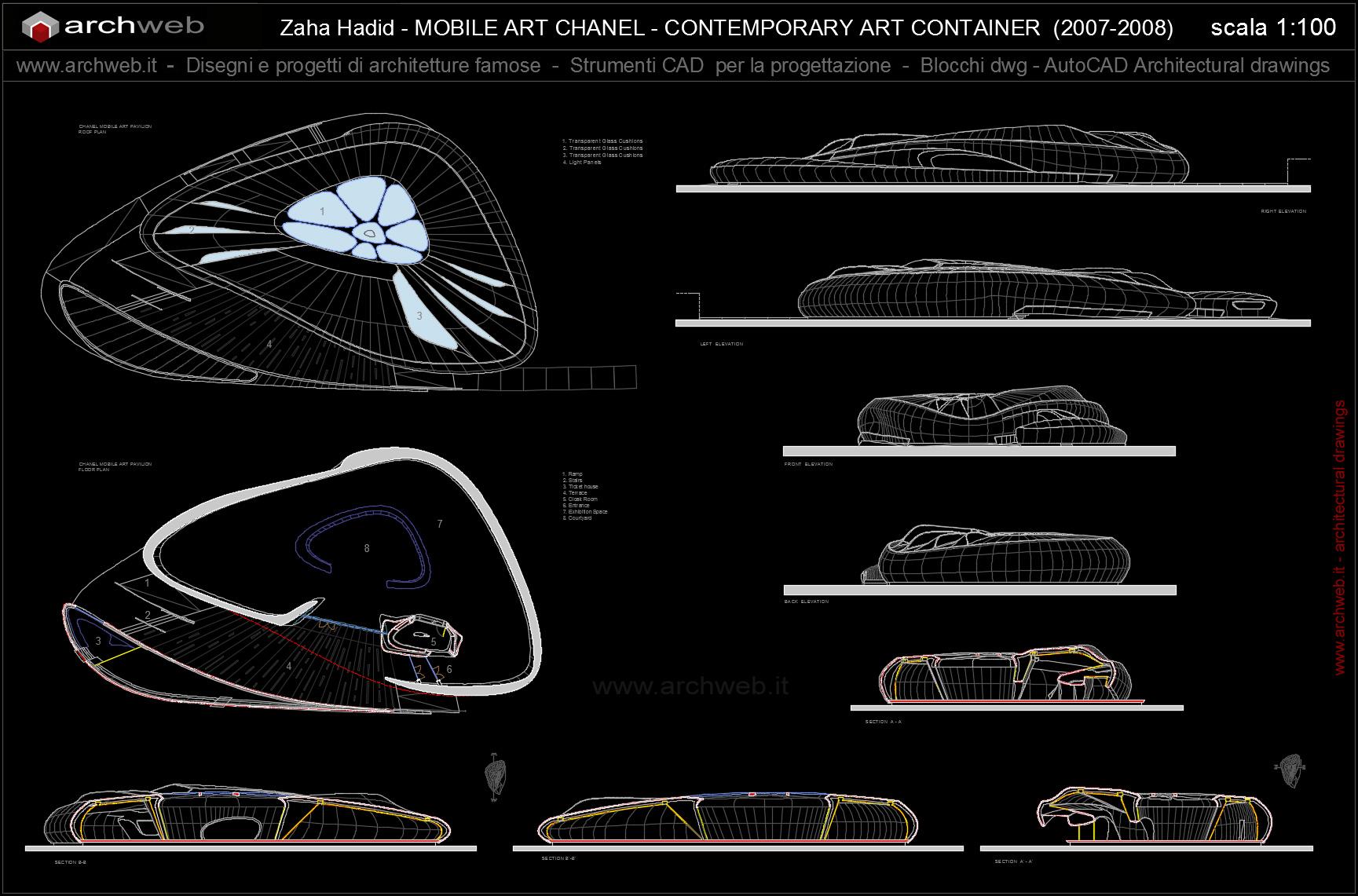 Chanel mobile art pavilion autocad dwg for Autocad arredi