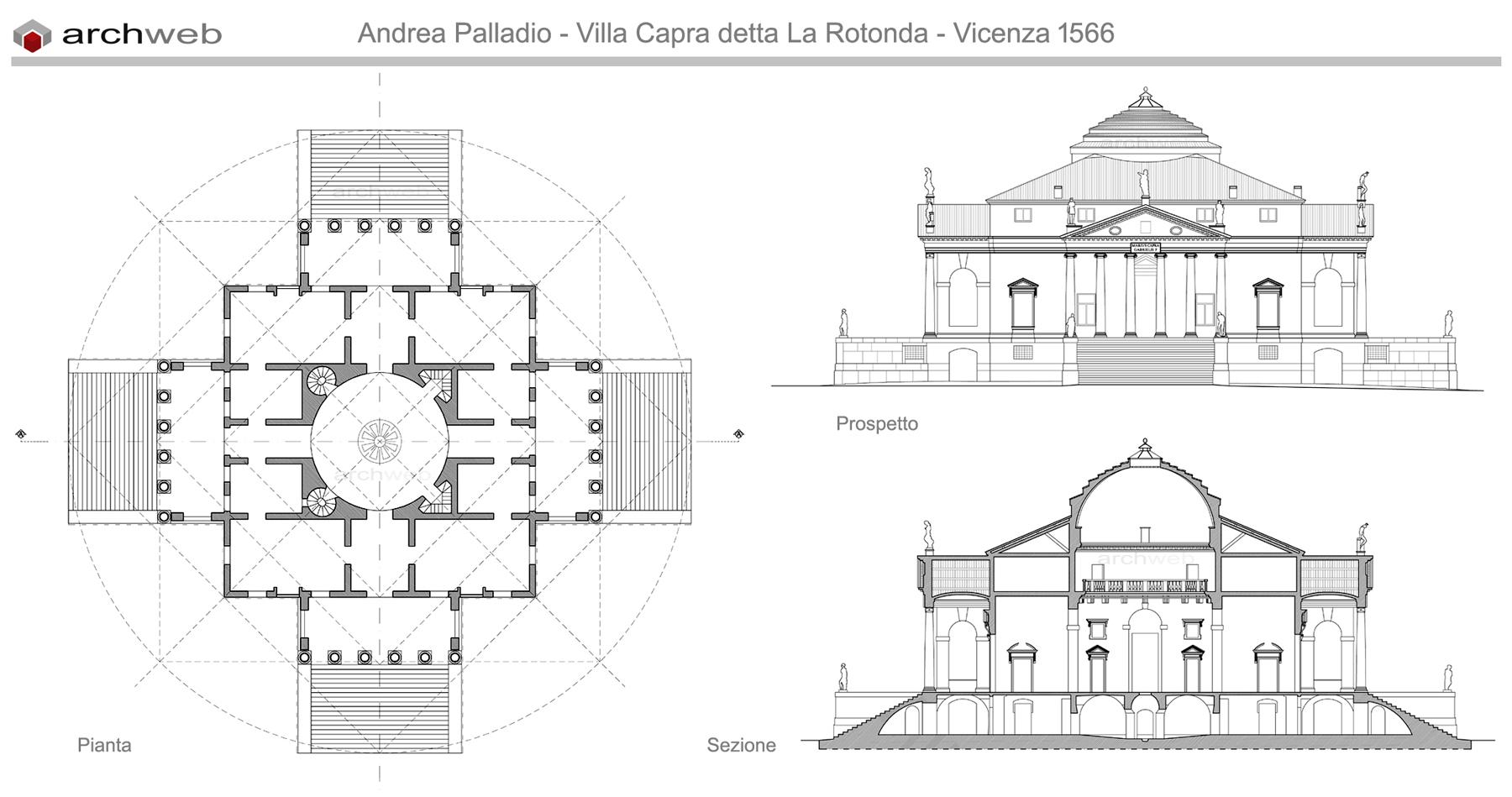 Jefferson Floor Plan A Palladio Villa Capra Detta La Rotonda Dwg
