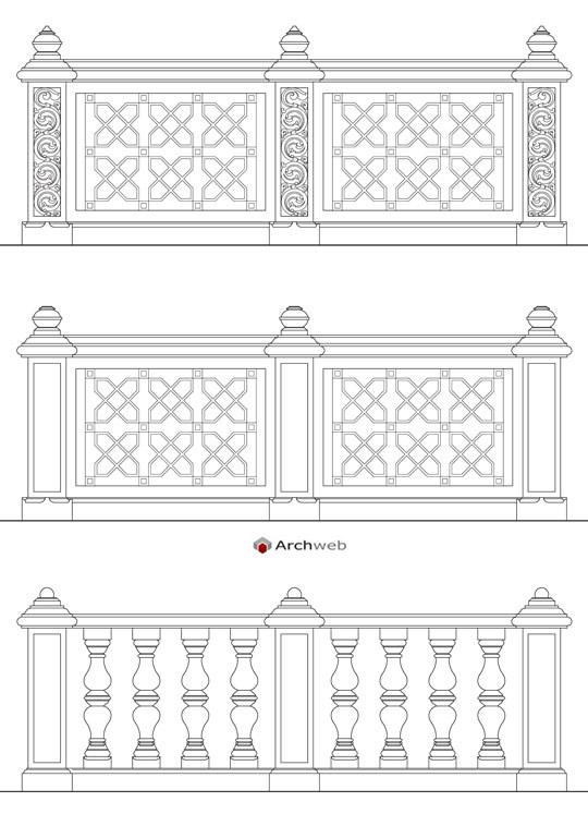 Balaustre in stile for Arredi archicad