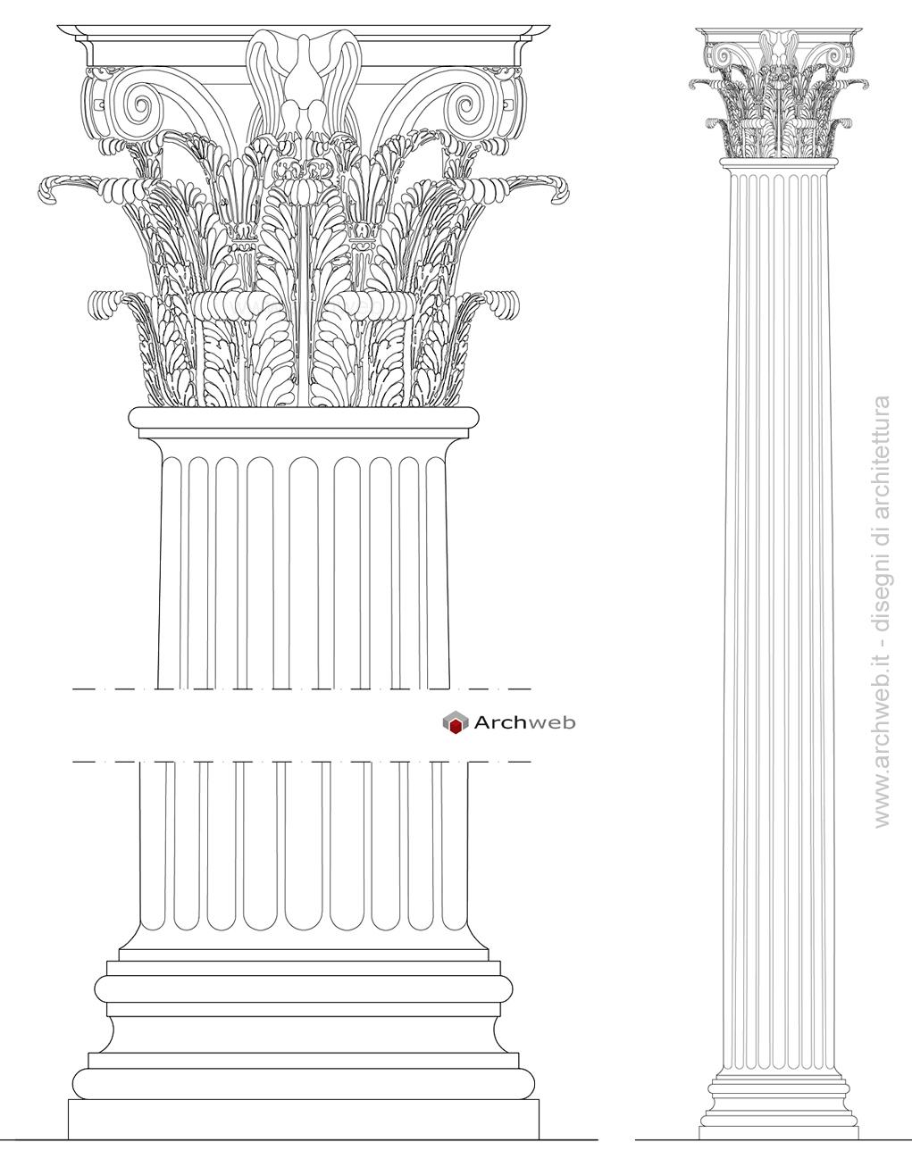 click sulle immagini. Colonna e capitello corinzio in formato jpg