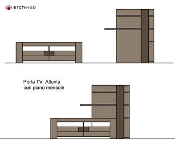Mobili per soggiorno componibile disegni dwg for Soggiorno dwg