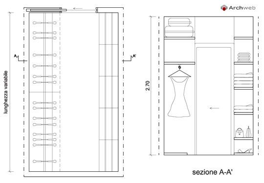 Cabine armadio dwg for Arredi per autocad