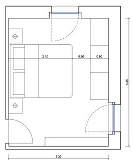 Master bedroom bedroom autocad drawings for Arredi cad