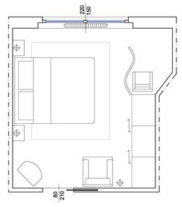 Master bedroom bedroom autocad drawings for Autocad arredi