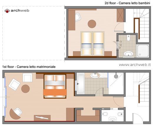 Soluzioni per una camera letto aggiuntiva for Autocad arredi