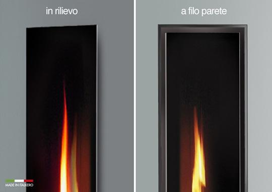 Camino Esterno Dwg : Inserto camino a gas mirror flame