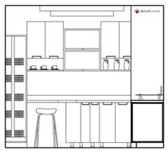 Cucine prospetti e sezioni kitchen elevation for Arredi 3d dwg