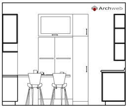 Kitchen elevation dwg drawings for Archweb cucina