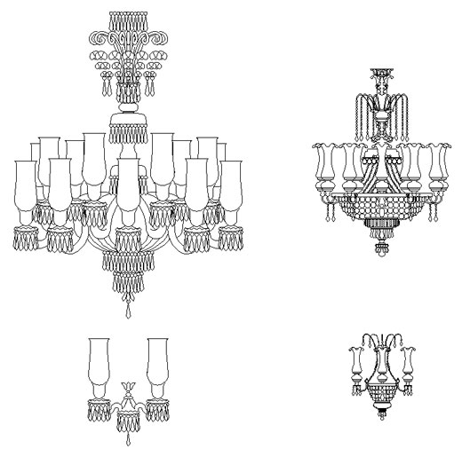 Lampadari classici dwg lamps drawings for Arredi 3d dwg
