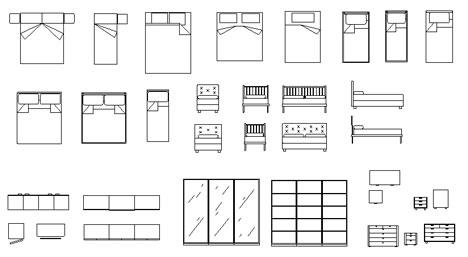 Simboli arredamento - Planimetria camera da letto ...