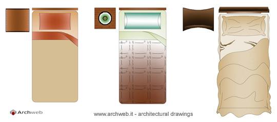 Archweb camera da letto casamia idea di immagine - Letto singolo dwg ...