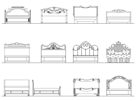 Sgabelli dwg prospetto design inspiration for Spalliere letto ikea