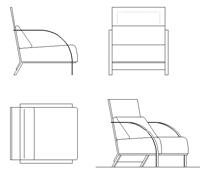sedie a sdraio dwg design casa creativa e mobili ispiratori