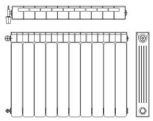 Radiatori 2d heaters dwg for Radiatori in alluminio