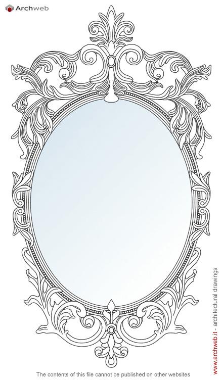 Specchi classici dwg classici mirrors drawings - Specchi classici ...