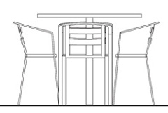 Tables and chairs drawings for Sedie ufficio dwg