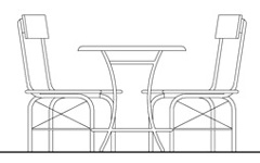 Tables and chairs drawings for Tavoli ristorante dwg